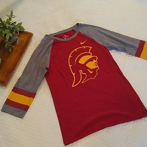 Nike USC women's w/raglan sleeves Tee maroon/ Sm
